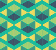 Geometric green yellow blue color  pattern background Stock Photo