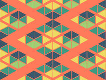 Geometric green yellow blue orange color  pattern background Stock Photo