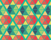 Geometric green yellow blue red color  pattern background Royalty Free Stock Image