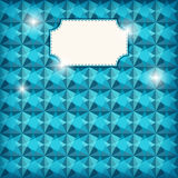 Geometric greeting card. Royalty Free Stock Images