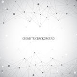 Geometric grey background molecule and communication . Connected lines with dots. Vector illustration Stock Photo