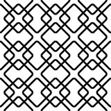 Geometric grid, mesh pattern with intersecting lines. Abstract grille, reticulated, cellular pattern. - Royalty free vector illustration Stock Images