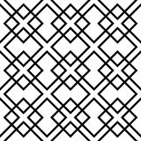 Geometric grid, mesh pattern with intersecting lines. Abstract grille, reticulated, cellular pattern. - Royalty free vector illustration Stock Photos