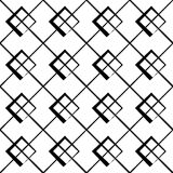 Geometric grid, mesh pattern with intersecting lines. Abstract grille, reticulated, cellular pattern. - Royalty free vector illustration Royalty Free Stock Image