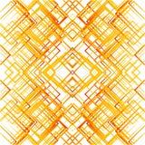 Geometric grid, mesh seamlessly repeatable pattern. Monochrome r Stock Photo
