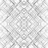 Geometric grid, mesh seamlessly repeatable pattern. Monochrome r Stock Photography