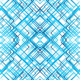 Geometric grid, mesh seamlessly repeatable pattern. Monochrome r Royalty Free Stock Photography