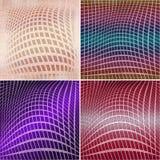 Geometric grunge backgrounds Stock Image