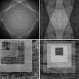 Geometric grunge backgrounds Royalty Free Stock Photo