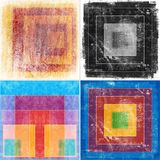 Geometric grunge backgrounds Royalty Free Stock Images