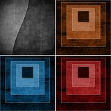 Geometric grunge backgrounds Stock Photo