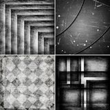 Geometric grunge black and white backgrounds Stock Photography