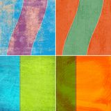 Geometric grunge colorful backgrounds Stock Image