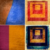 Geometric grunge colorful backgrounds Stock Images