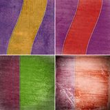 Geometric grunge colorful backgrounds Stock Photography