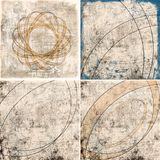Geometric grunge colorful backgrounds Royalty Free Stock Images