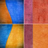 Geometric grunge colorful backgrounds Royalty Free Stock Photography