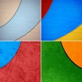 Geometric grunge colorful backgrounds Stock Image
