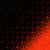 Geometric halftone dot pattern background - vector design from circles. Geometric halftone dot pattern background - vector design from red circles stock illustration