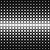 Geometric halftone dot pattern background - vector graphic from circles on black background Royalty Free Stock Images