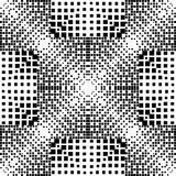 Geometric halftone vector seamless pattern. Abstract check dotte. D gradient background. Black and white monochrome checkered geometry ornaments. Surface effect Stock Photo