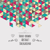 Geometric Hand-drawn Abstract Background Royalty Free Stock Photos