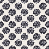 Geometric hand drawn polka dots seamless pattern Royalty Free Stock Images
