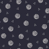 Geometric hand drawn polka dots and triangles Stock Photo