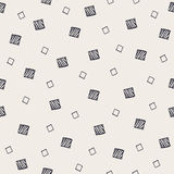 Geometric hand drawn seamless pattern with squares Royalty Free Stock Image