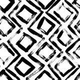 Geometric hand drawn seamless pattern. Vector ornament with rhombuses. Geometric hand drawn seamless pattern. Vector zig zag lines and squares grunge drawing stock illustration