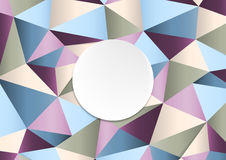 Geometric handcraft colorful paper template abstract background. Vector design Stock Photography