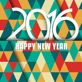 Geometric Happy New Year design. Happy New Year background with geometric design Royalty Free Stock Photography