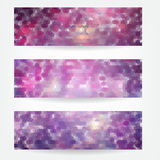 Geometric header set Royalty Free Stock Images