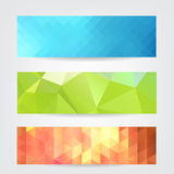 Geometric header set Royalty Free Stock Photo