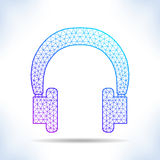 Geometric headphones. Stock Images