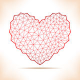 Geometric heart. Royalty Free Stock Images