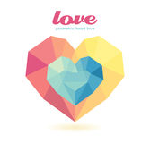 Geometric heart Modern Design Royalty Free Stock Photo
