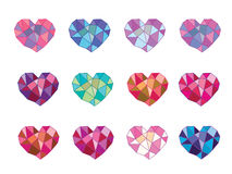 Geometric heart Stock Images