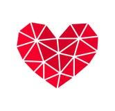 Geometric heart shape icon. Vector illustration stock illustration