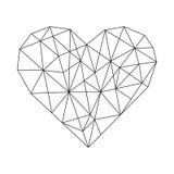 Geometric Heart. Vector minimal wireframe vector illustration