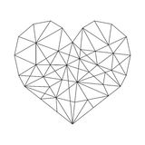 Geometric Heart. Vector minimal wireframe Royalty Free Stock Images