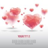 Geometric hearts. Abstract background with geometric hearts, vector illustration Royalty Free Stock Photo
