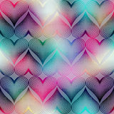 Geometric hearts on blur background. Stock Photography