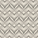 Geometric hearts pattern. Royalty Free Stock Images