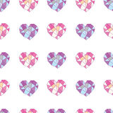 Geometric hearts Royalty Free Stock Image