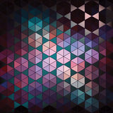 Geometric hexagon abstract background Royalty Free Stock Photos
