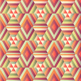 Geometric hexagon op illusion Royalty Free Stock Photography