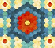 Geometric hexagon pattern for your design Royalty Free Stock Image