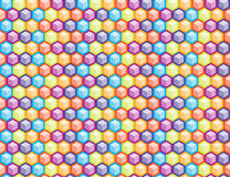 Geometric hexagon seamless colorful pattern background. Geometric hexagon seamless colorful pattern texture background Stock Photography