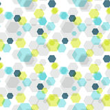 Geometric hexagon seamless pattern Royalty Free Stock Photos